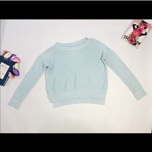 Loft Mint Turquoise Knitted Sweater Petite Size M